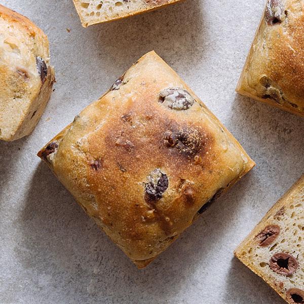 pão miolo azeitonas